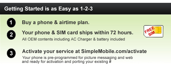Getting a new phone with SIMPLE Mobile is easy!
