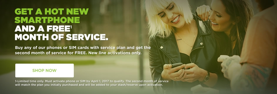 Get a Free Month of Service with SIMPLE Mobile
